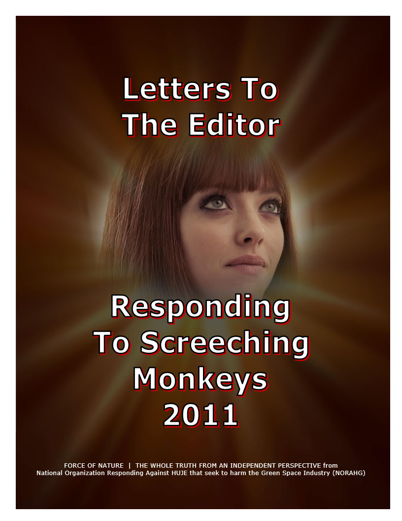 LETTERS TO THE EDITOR -- WEB-PAGE -- Responding To Screeching Monkeys 2011