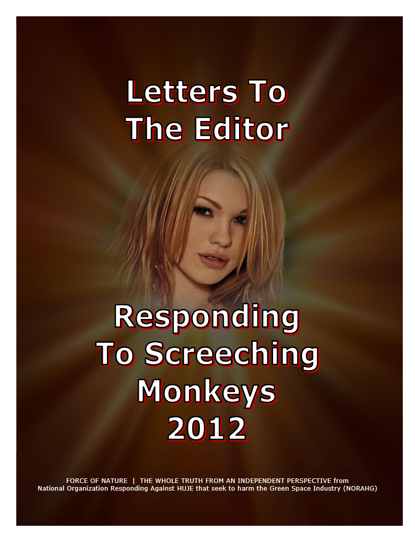 LETTERS TO THE EDITOR -- WEB-PAGE -- Responding To Screeching Monkeys 2012