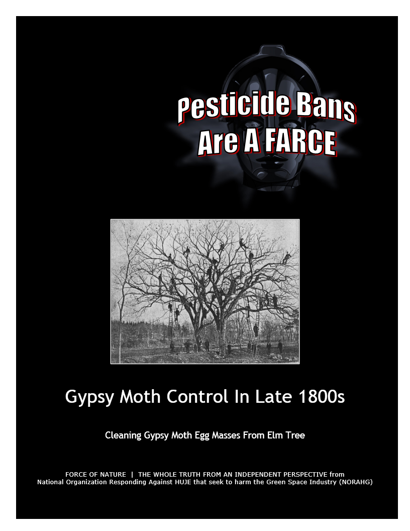 Pesticide Bans Are A Farce -- Gypsy Moth Control In Late 1800s (1) -- Blue Colour