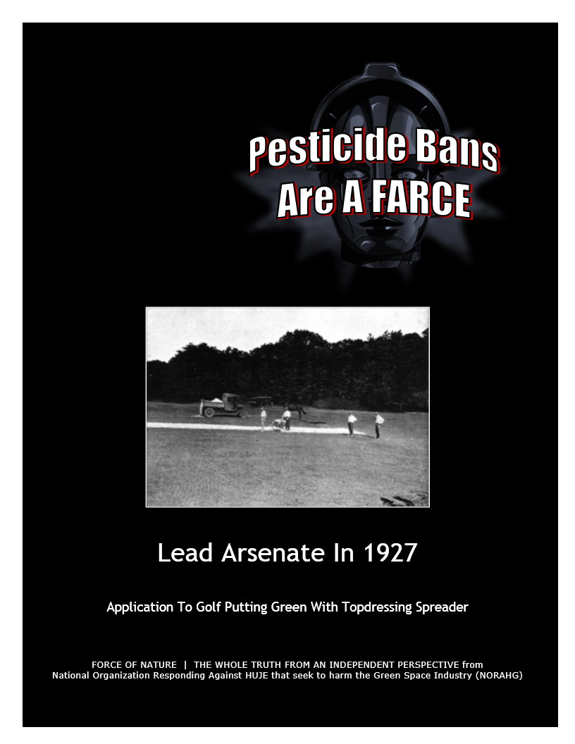 Pesticide Bans Are A Farce -- Lead Arsenate In 1927 (1) -- Blue Colour