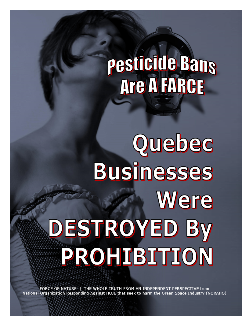 Pesticide Bans Are A Farce -- Province -- Quebec -- Blue Colour