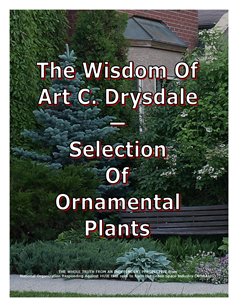 The Wisdom Of Drysdale -- Selection Of Ornamental Plants -- 314 x 235 px