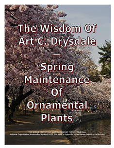The Wisdom Of Drysdale -- Spring Maintenance Of Ornamental Plants -- 314 x 235 px