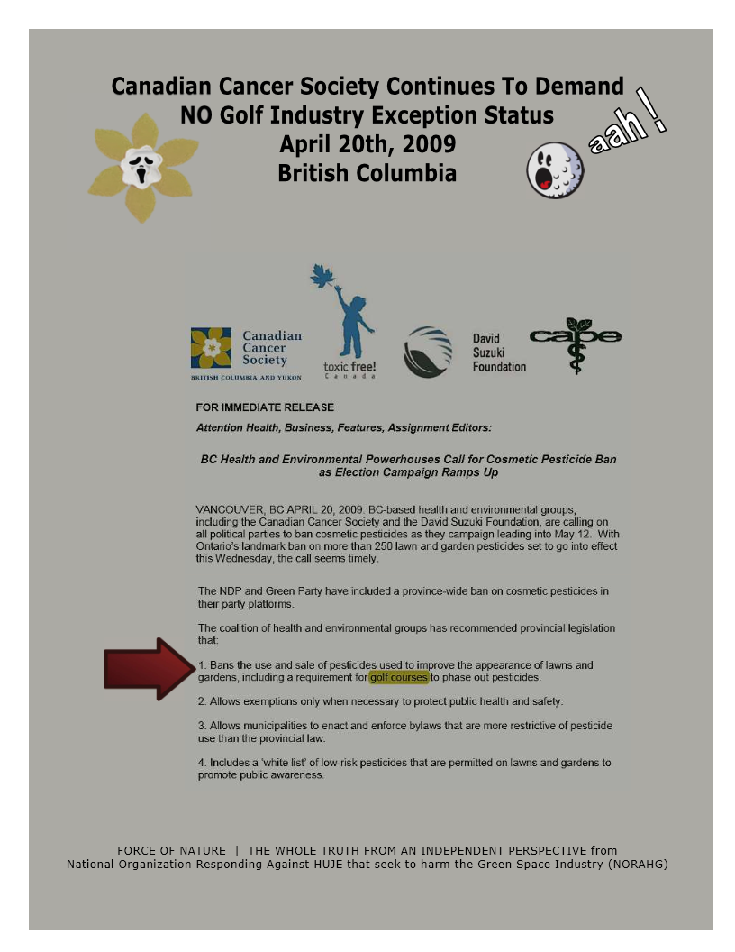 Organization -- Canadian Cancer Society -- NO Golf Exception Status (5)