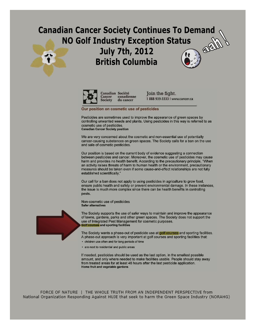 Organization -- Canadian Cancer Society -- NO Golf Exception Status (9)