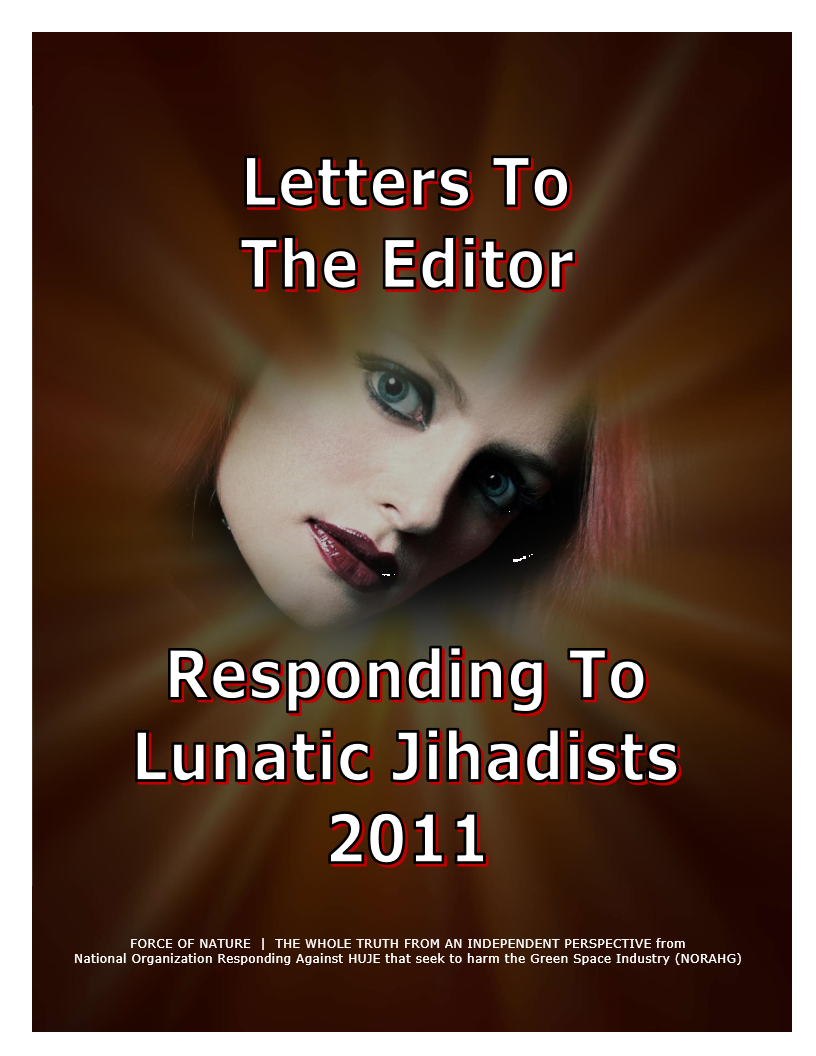 LETTERS TO THE EDITOR -- WEB-PAGE -- Responding To Lunatic Jihadists 2011