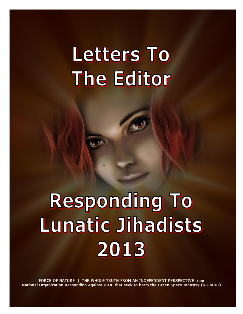 LETTERS TO THE EDITOR -- WEB-PAGE -- Responding To Lunatic Jihadists 2013