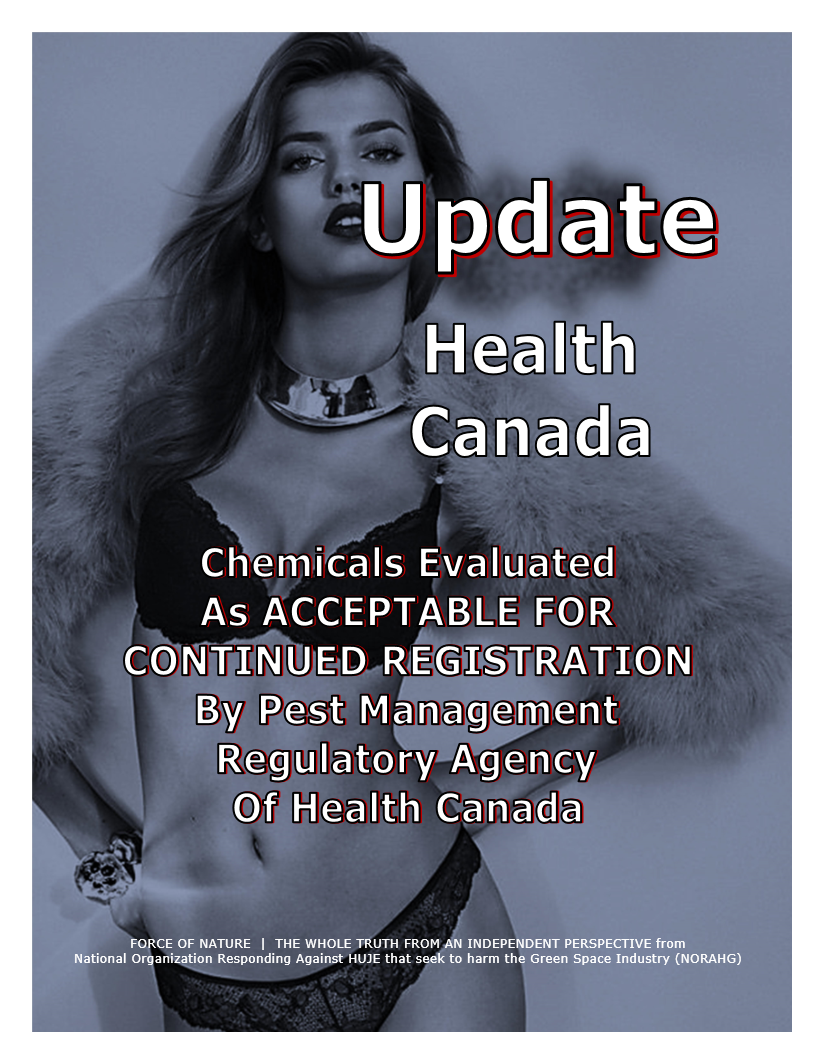 UPDATE -- Health Canada -- Acceptable For Continued Registration (3)