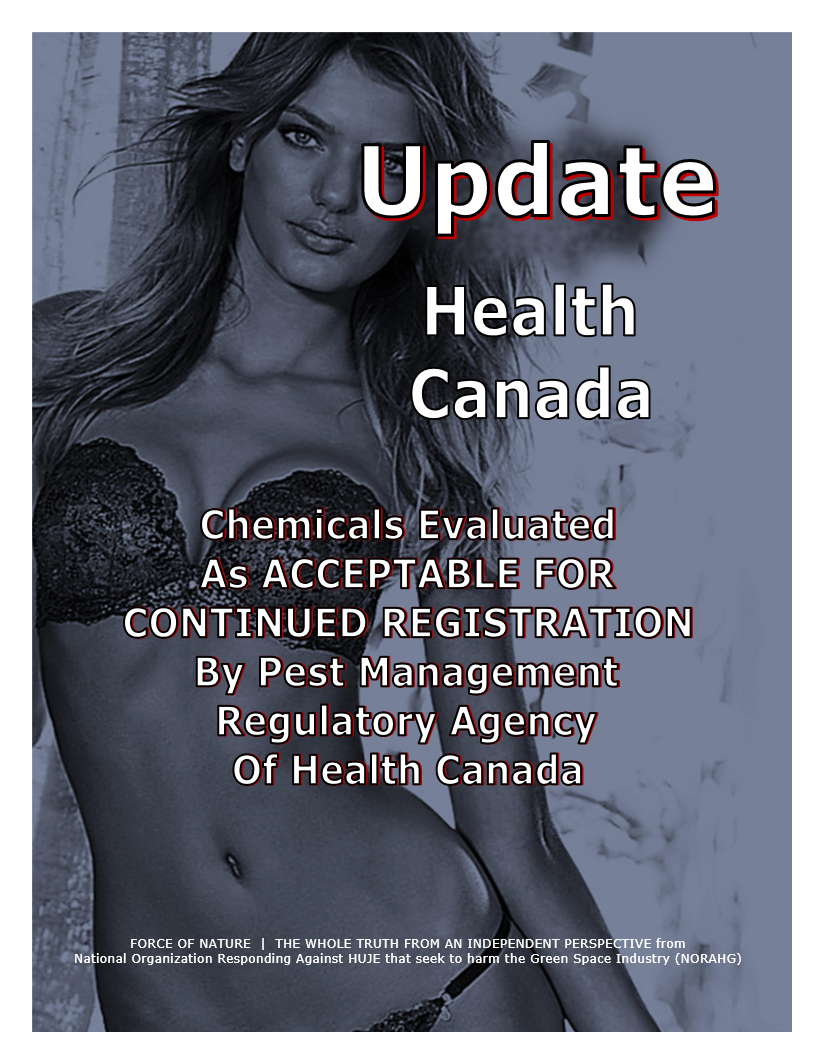 UPDATE -- Health Canada -- Acceptable For Continued Registration (8)