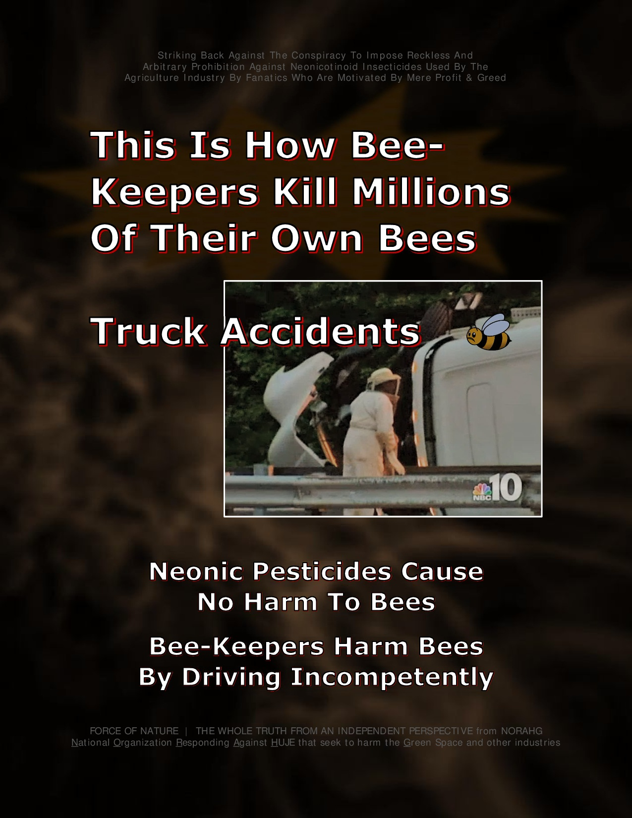 Bee Colony Collapse Disorder -- Truck Accidents -- 1-11
