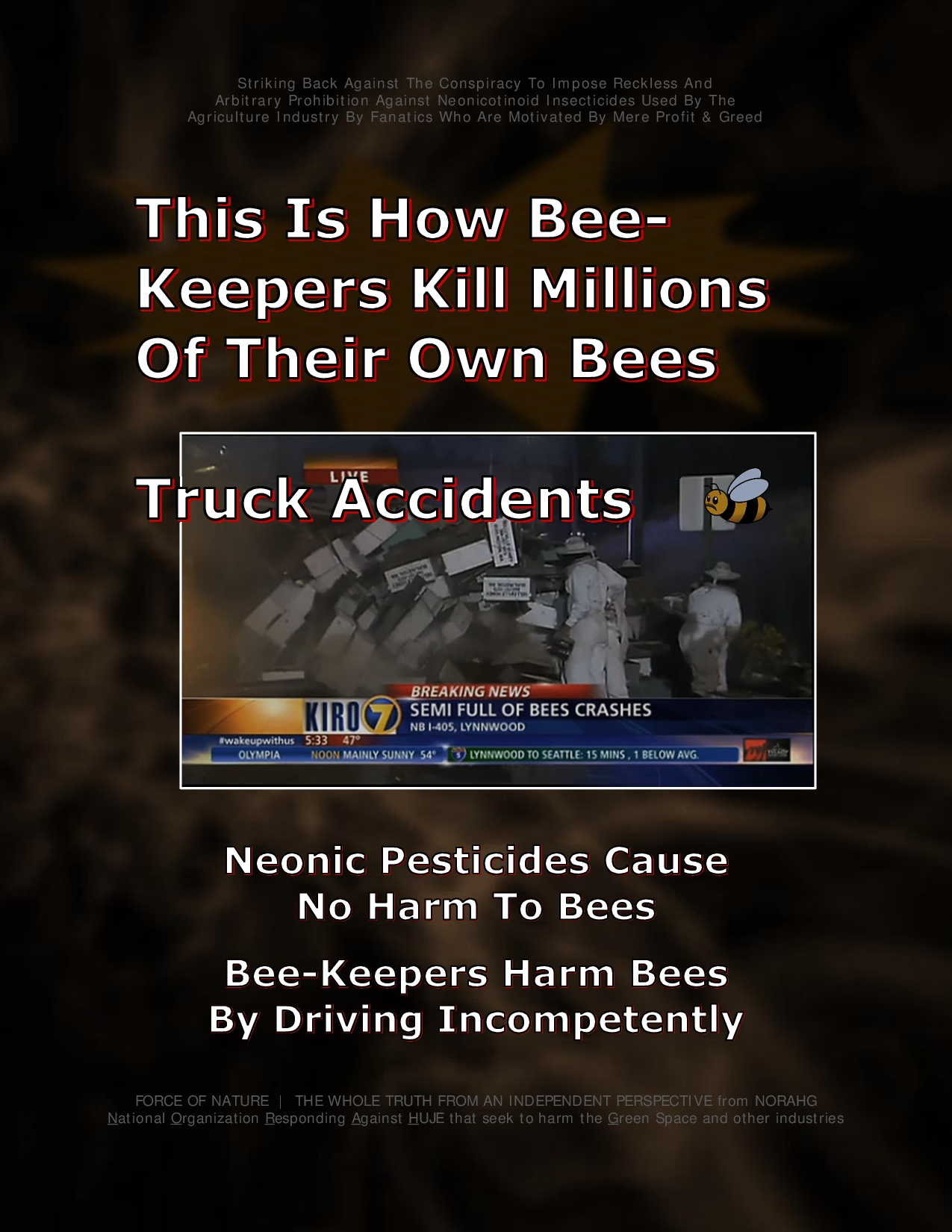 Bee Colony Collapse Disorder -- Truck Accidents -- 1-12