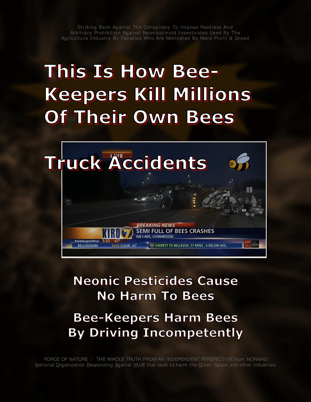 Bee Colony Collapse Disorder -- Truck Accidents -- 1-13