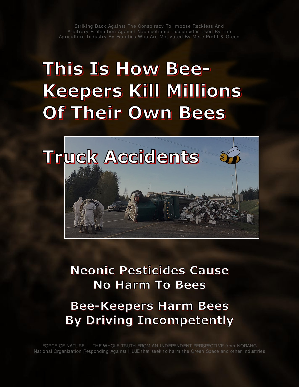 Bee Colony Collapse Disorder -- Truck Accidents -- 1-14