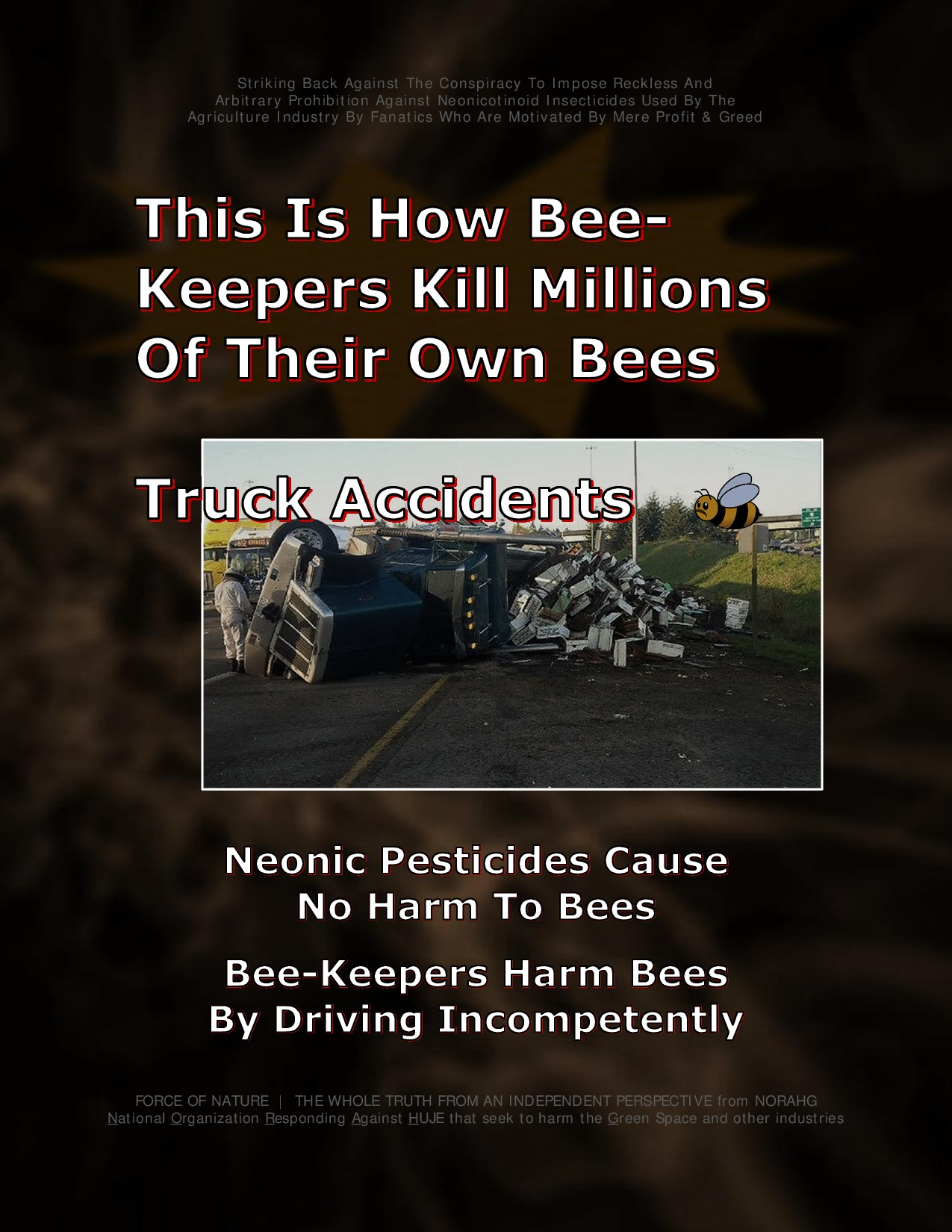 Bee Colony Collapse Disorder -- Truck Accidents -- 1-15