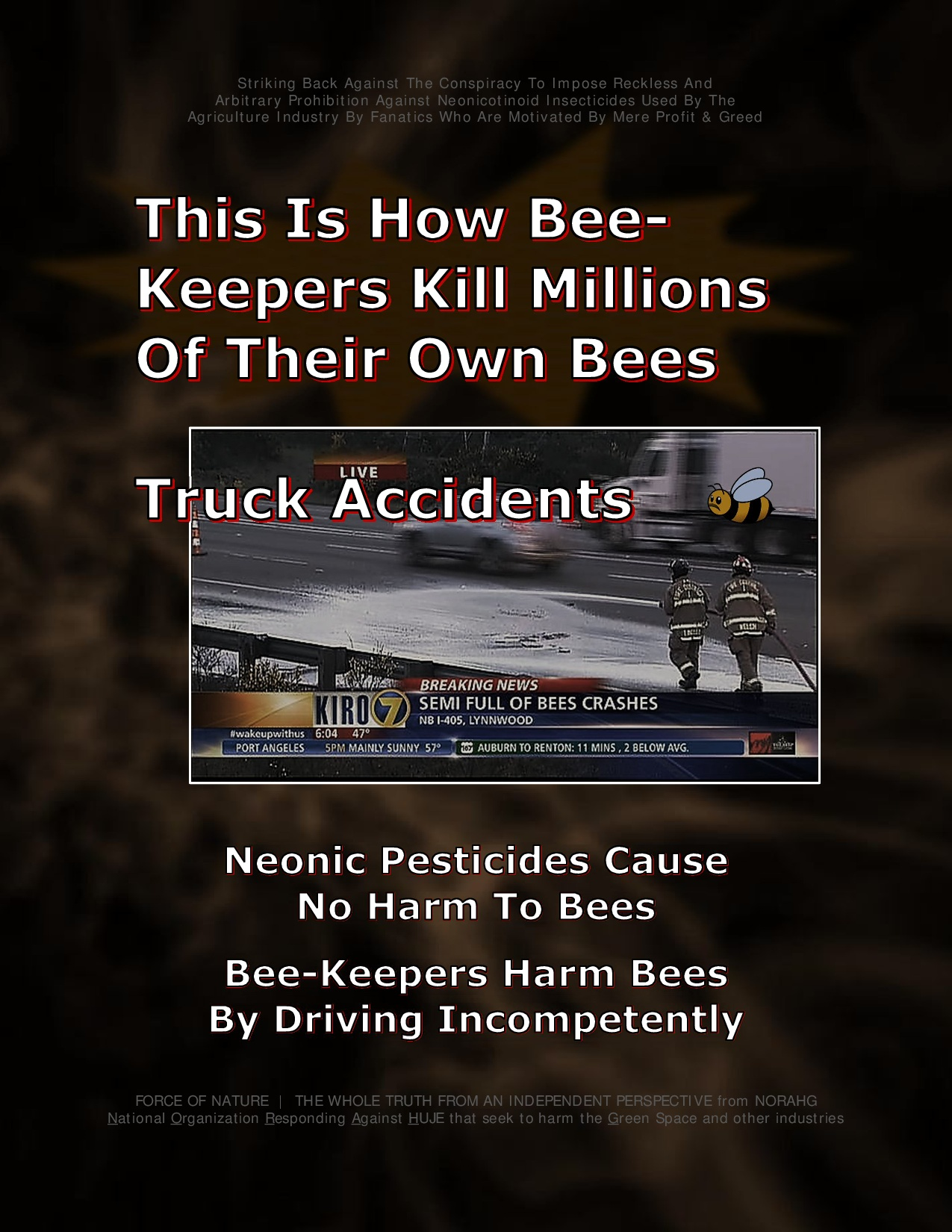 Bee Colony Collapse Disorder -- Truck Accidents -- 1-2