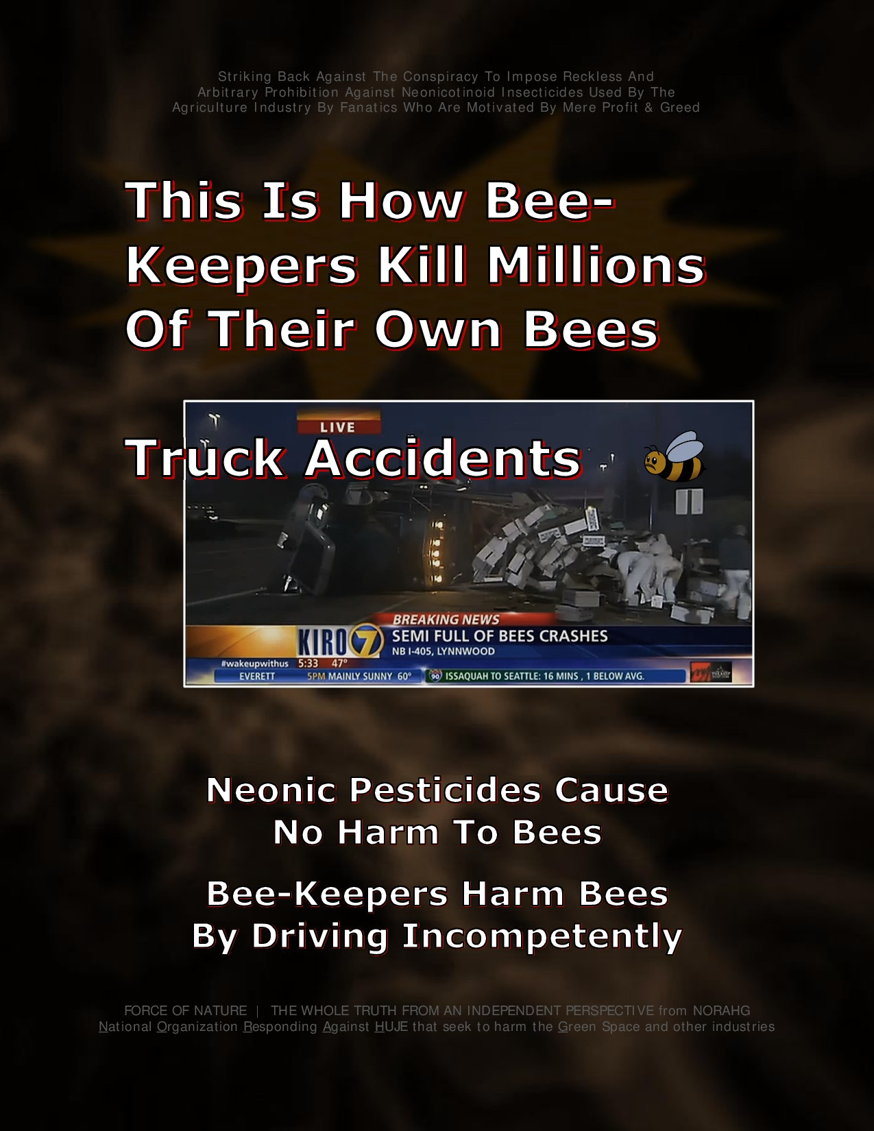 Bee Colony Collapse Disorder -- Truck Accidents -- 1-3