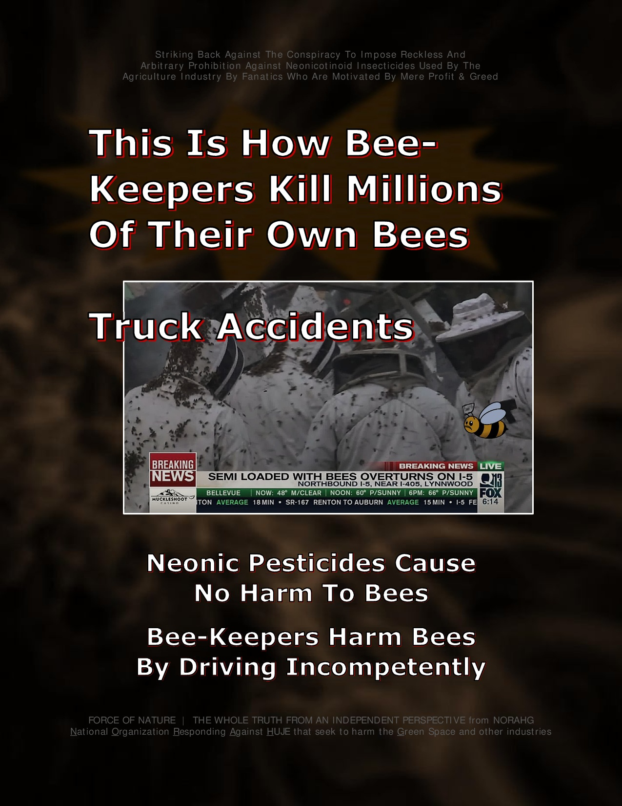 Bee Colony Collapse Disorder -- Truck Accidents -- 1-5