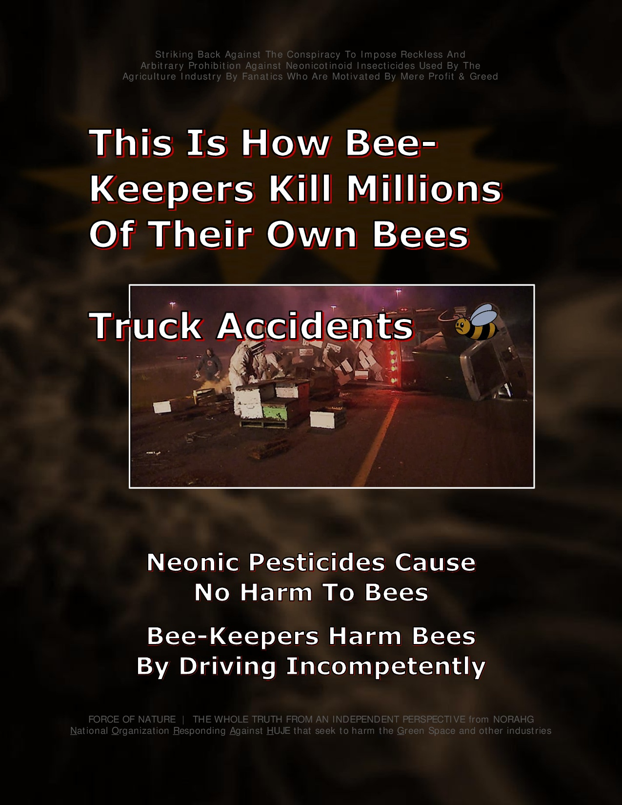Bee Colony Collapse Disorder -- Truck Accidents -- 1-8