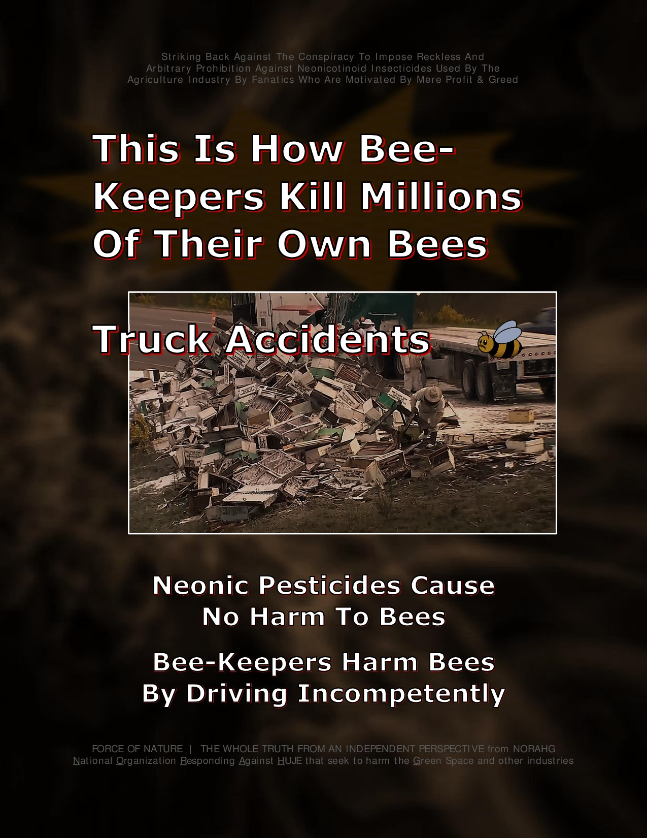 Bee Colony Collapse Disorder -- Truck Accidents -- 1-9
