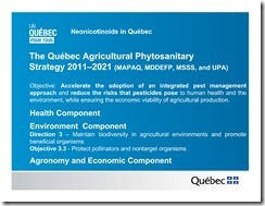 Slide Show -- Bees -- Neonicotinoids In Quebec -- Government Of Quebec -- 2013 08 19 xxxxxxxxxxxx-13