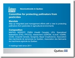 Slide Show -- Bees -- Neonicotinoids In Quebec -- Government Of Quebec -- 2013 08 19 xxxxxxxxxxxx-14