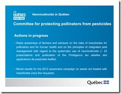 Slide Show -- Bees -- Neonicotinoids In Quebec -- Government Of Quebec -- 2013 08 19 xxxxxxxxxxxx-15