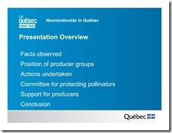 Slide Show -- Bees -- Neonicotinoids In Quebec -- Government Of Quebec -- 2013 08 19 xxxxxxxxxxxx-2