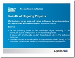 Slide Show -- Bees -- Neonicotinoids In Quebec -- Government Of Quebec -- 2013 08 19 xxxxxxxxxxxx-4