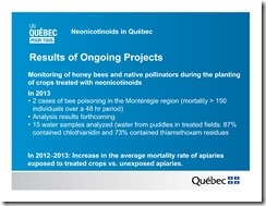Slide Show -- Bees -- Neonicotinoids In Quebec -- Government Of Quebec -- 2013 08 19 xxxxxxxxxxxx-5
